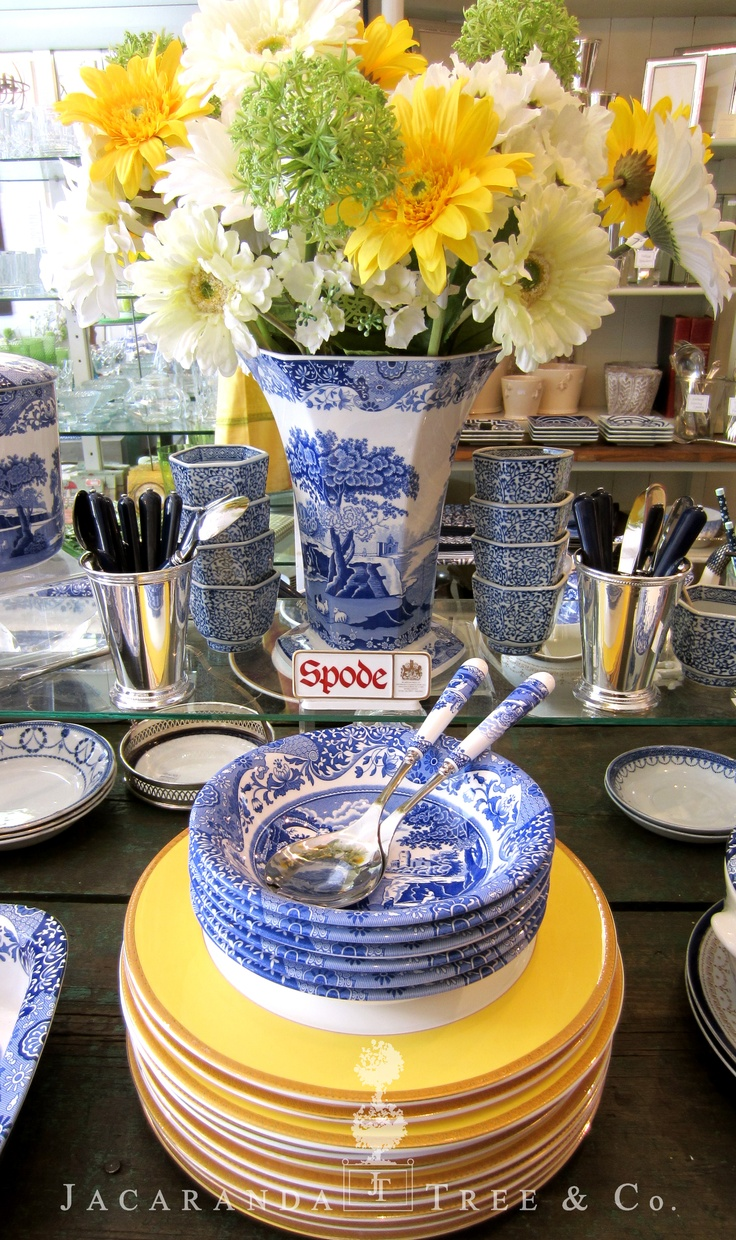 Stunning Spode china from Jacaranda Tree, Toronto