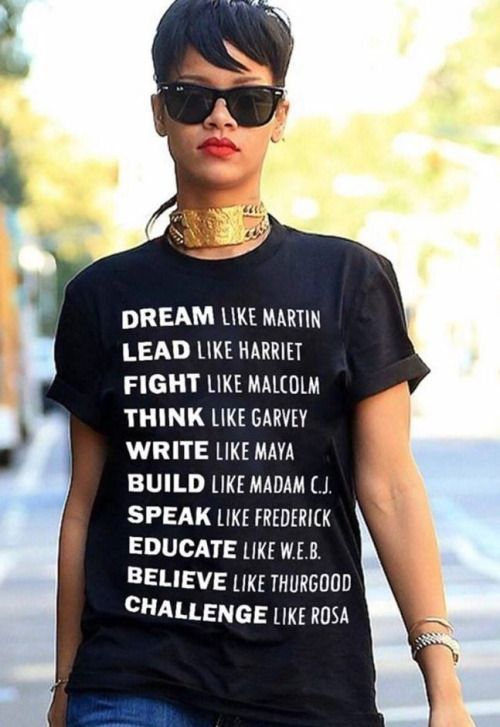 Rihanna's t-shirt highlights great role models ~ Loved by Danyka Collection ~ - shirts, pink, funny, workout, cute, party shirt *ad