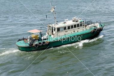 pilot boat at sea in lagos nigeria  africa