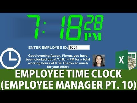 how to create an excel fully automated employee time clock employee