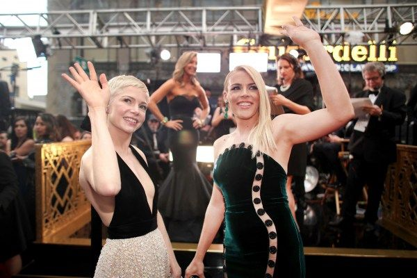 Michelle Williams walked the red carpet at the 2017 Academy Awards with her best friend actress Busy Philipps on Sunday, February 26 in Los Angeles, Calif.