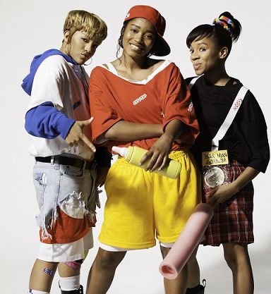 Seeing Double? Lil Mama, Keke Palmer, And Drew Sidora Look Just Like TLC In New Biopic Pics