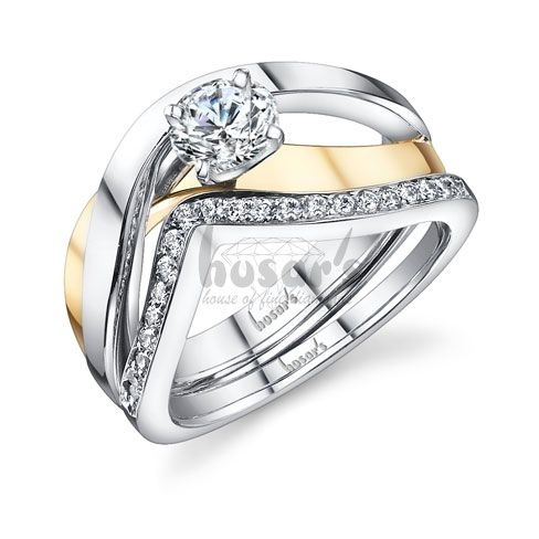 engagement rings two tone