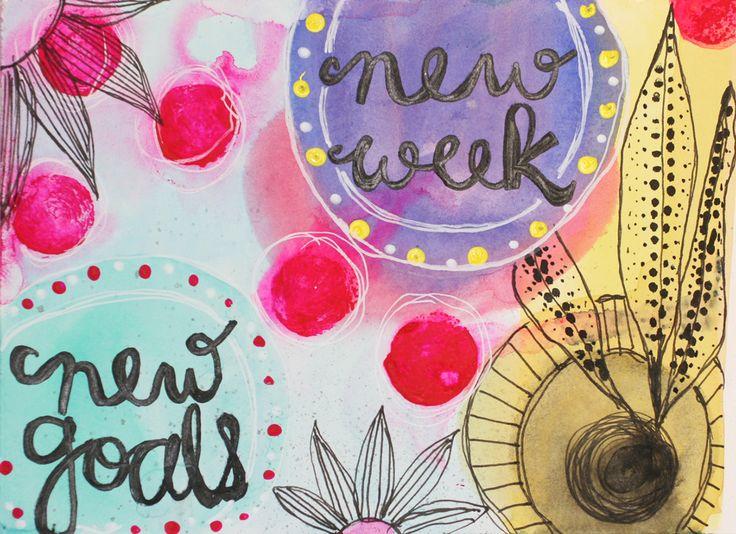 Motivation Monday Art Exercise New Week New Goals