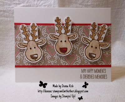 Stamps Well With Others: Cookie Cutter Reindeer