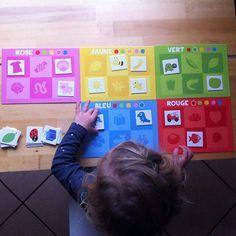 • Plateaux de couleurs ❤️• #couleurs #activité #apprendreparlejeu #apprendsmoiafaireseul #matin #cadeaumarraine #enfant #nathan