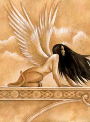 Greek Mythology: Sphinx | She has the haunches of a lion, the wings of a great bird, and the face of a woman. She is treacherous and merciless.