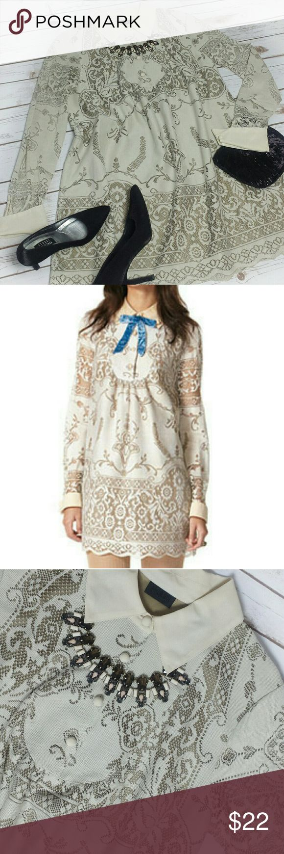 "Anna Sui for Target ""Blair"" Baby doll Tunic Dress This stunning dress sold out instantly at Target and now needs a new home. It is in beautiful condition and can be dressed up with heels or down with cute flats.  B- 21.5"" A-26"" L-35.5"" Anna Sui Dresses Long Sleeve"