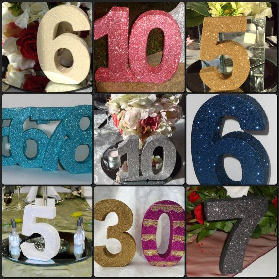Freestanding glitter wedding table number. Wedding table numbers decoration. Wooden table numbers by SimplySpecialBoutiq on Etsy