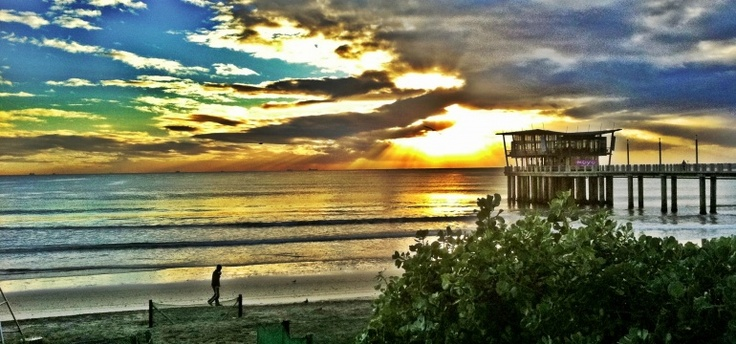 Beautiful Durban sunset; east coast, South Africa.