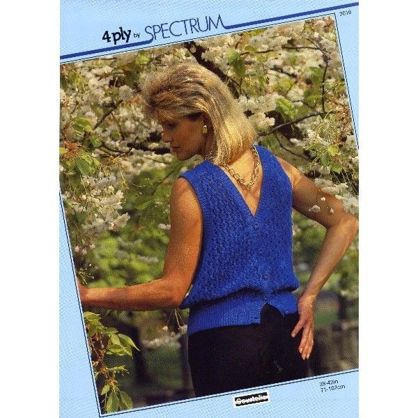 Ladies sweater waistcoat knitting pattern for 4 ply yarn Spectrum patterns 3016 Listing in the 3 and 4 ply,Patterns-Contemporary,Knitting & Crochet,Needlework,Crafts, Handmade & Sewing Category on eBid United Kingdom | 156283396