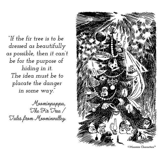 Happy Holidays! / God Jul! / Hyvää Joulua! #ToveJansson #Moomin