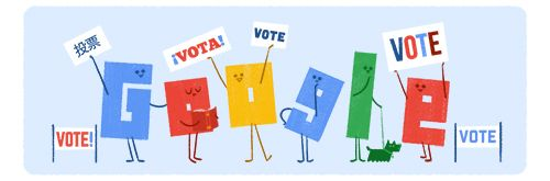 United States Elections 2016 Reminder (Day 1)  Date: November 6 2016  Today'sElections reminder Doodleleads to atoolthat will help you find your polling place for the 2016 U.S. Election. In addition to helping youfindyour local polling place other tools help explain the voting process with information on how to voteand who's on your ballot in both English and Spanish.  When the polls close on Election Day on November 8 you'll also be able tofind real-time U.S. election results integrated…