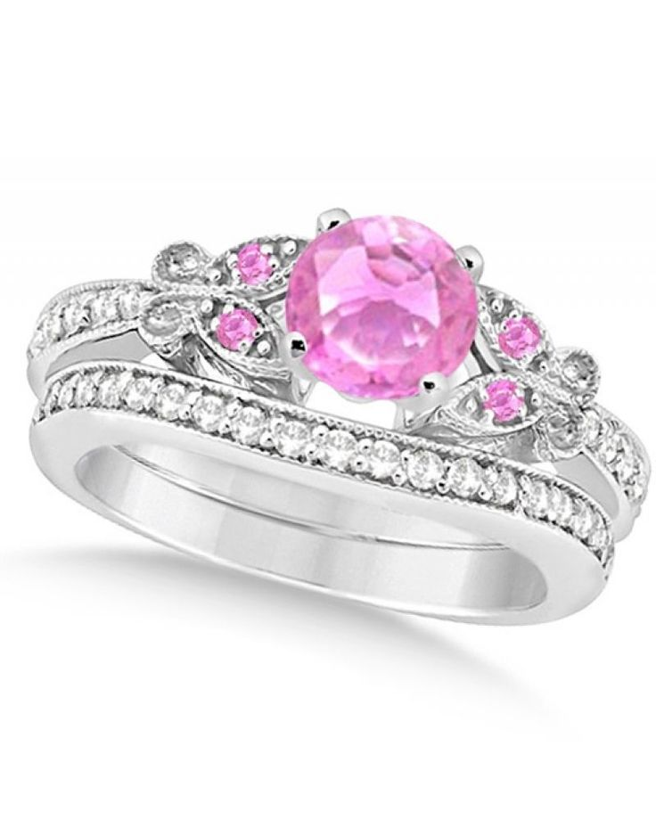 Top engagement rings with colored gemstones - pink