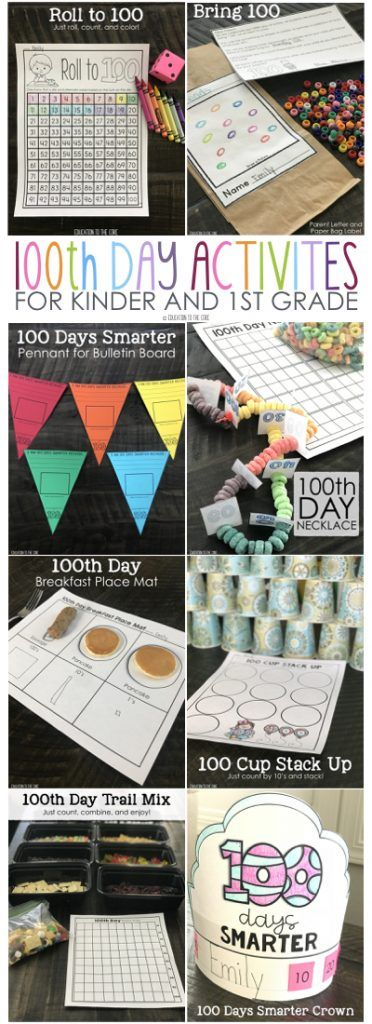 Wonderful 100th day activities for Kinder and First!