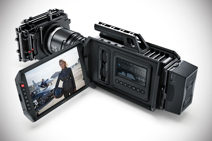 Blackmagic URSA 4K Digital Film Camera - camcorder pro-grade video cam with a massive 10-inch fold-out monitor