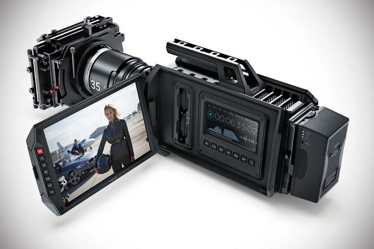 Blackmagic URSA 4K Digital Film Camera - camcorder pro-grade video cam with a massive 10-inch fold-out monitor
