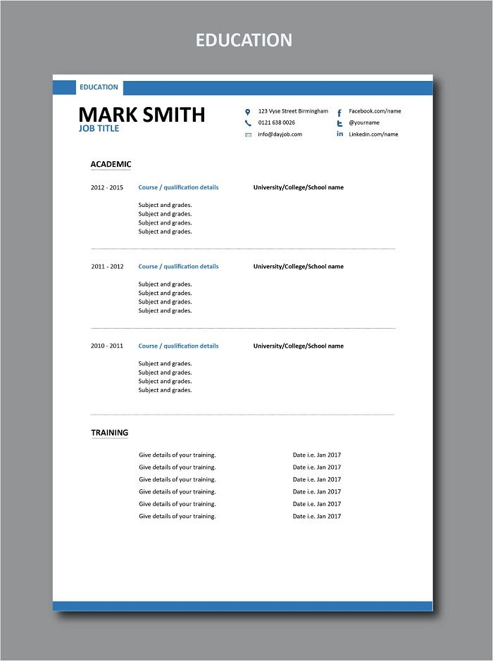 In the education section of a resume or CV list \u2026 Modern Resume