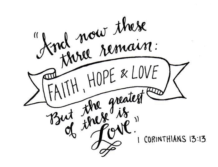 17 Best Ideas About Corinthians Tattoo On Pinterest Anchor Tattoos Faith Hope Love And Hope Love