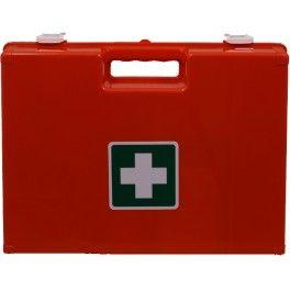 Verbandkoffer geschikt voor vrijwel elke organisatie met inhoud zoals beschreven in de verbandrichtlijnen 2016 van Het Oranje Kruis. Afmeting koffer: 32x22x13 cm. Inclusief wandbeugel. Kies zelf extra aanvullingen.