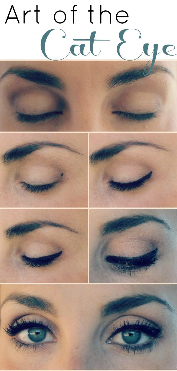 art of the cat eye - this is a good tip to make a cat eye if you have hooded eyes