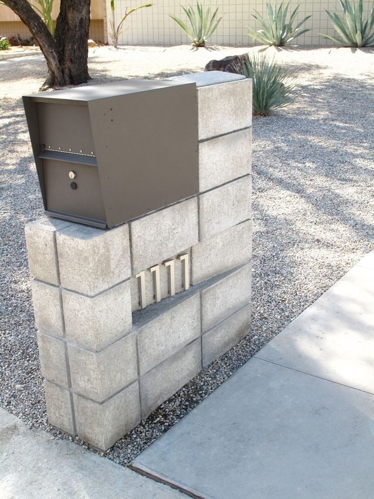 Picture of Mid Century Modern Mailbox: Design and Color Options