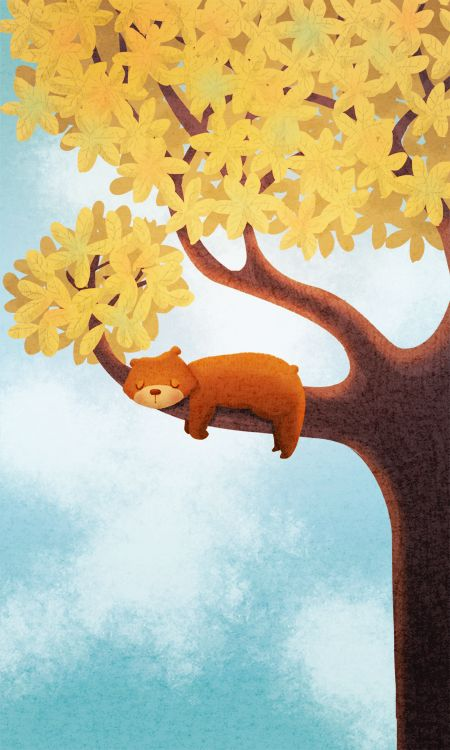 Are you a sleepy little bear?  ♥  This is a darling illustration!