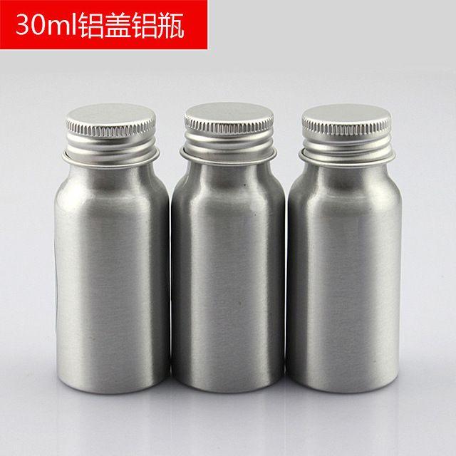 30 мл х 50 алюминий Косметическая упаковка Металлическая бутылка, хранение металлических контейнеров, бутылка с эфирным маслом с алюминиевыми винтовыми крышками