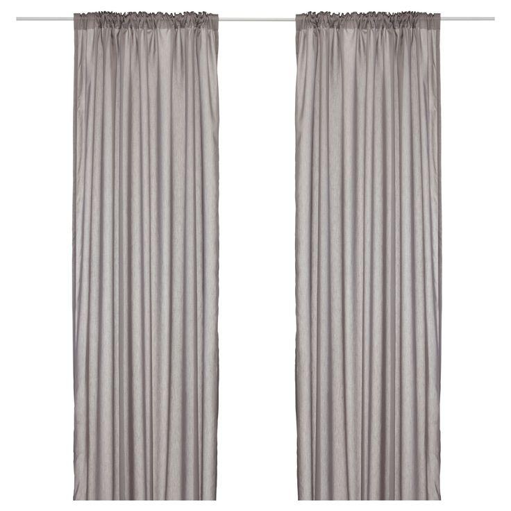 VIVAN Pair of curtains - gray - IKEA