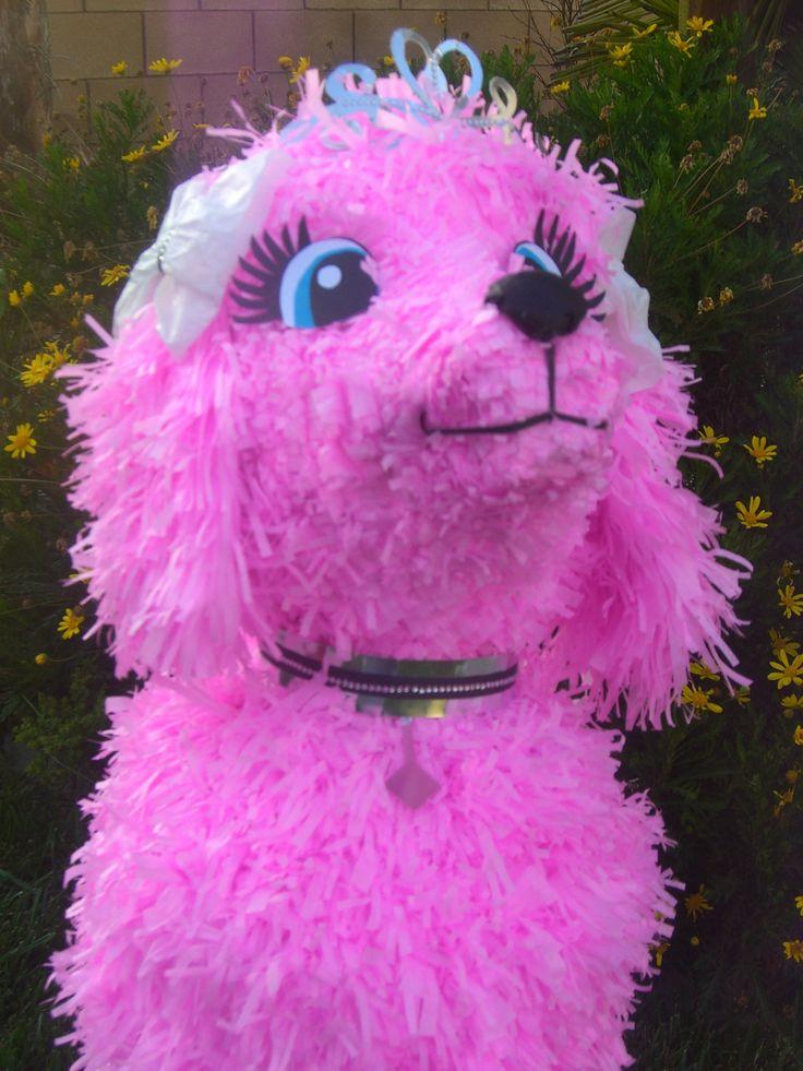 Pink Poodle Pinata Custom Hand Made Pinata Ooh by angelaspinatas, Www.facebook.com/angelaspinatas