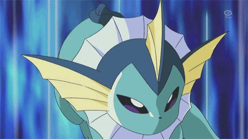 Cute Vaporeon Gif - Bubble Beam. #Pokemon #Vaporeon #Gifs