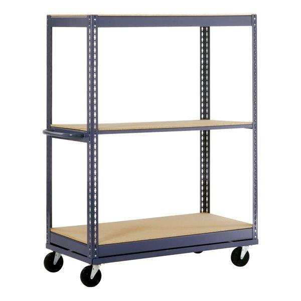 Boltless Mobile Shelf Truck w/ Three Shelves