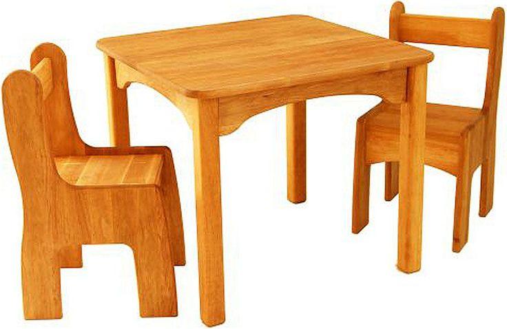 Drewart Kindertisch mit Stühlen Erle