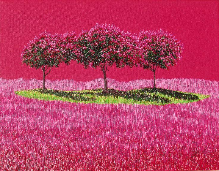 """""""CRAPE FUCHSIA, 11x14 oil on canvas SOLD by:  CRAIGHEAD GREEN GALLERY,  1011 Dragon Street, Dallas, TX 75207.  Ph: 214.855.0779 www.jaymaggio.com"""