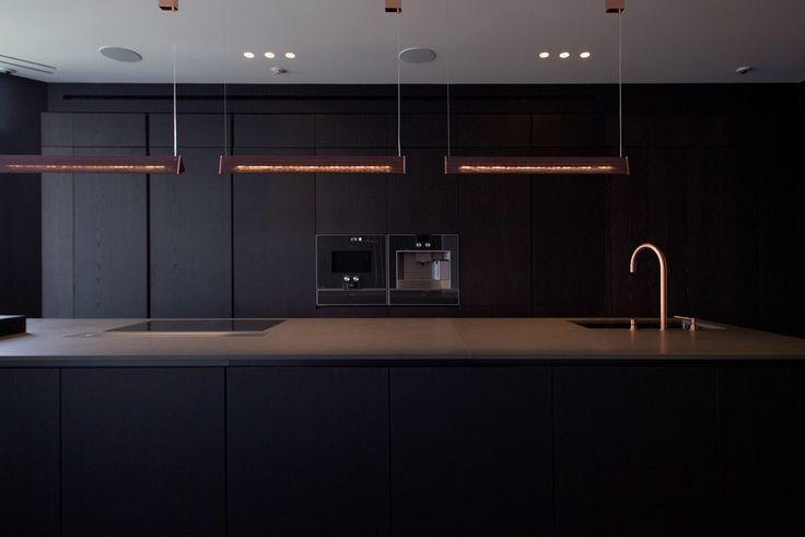 Black kitchen interior design ideas. Brand Poliforn