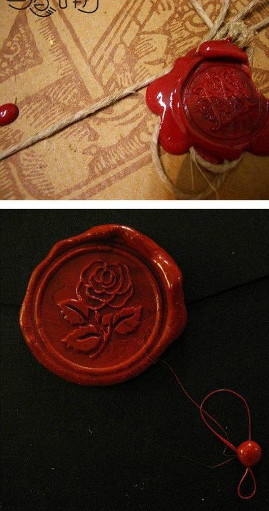 HOW TO: Create a Home Made Wax Seal.... If I Dork out and marry another book nerd we can have a harry potter themes wedding with parchment invitations sealed with wax seals!!! Awesome!!!