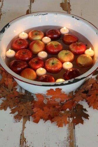 ŐSZI DEKORÁCIÓ és legalább az almákat fel is lehet használni utána!
