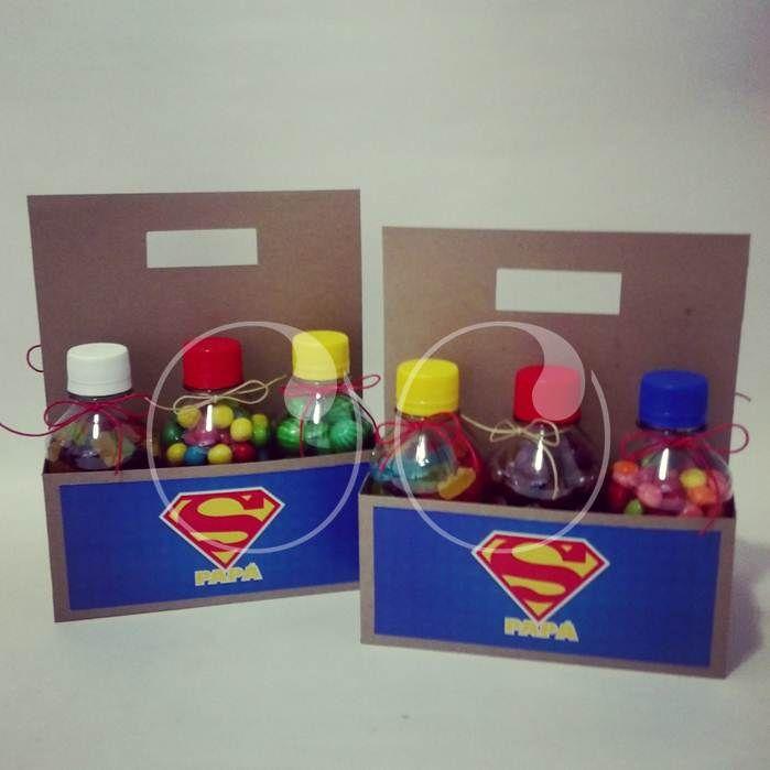 Kit Super Papá... Botellas con dulces mágicos que le darán energía para seguir siendo nuestro héroe!  #DiaDelPadre #SixPack #Heroe #Regalos #WooHoo #Ideas #Diseño