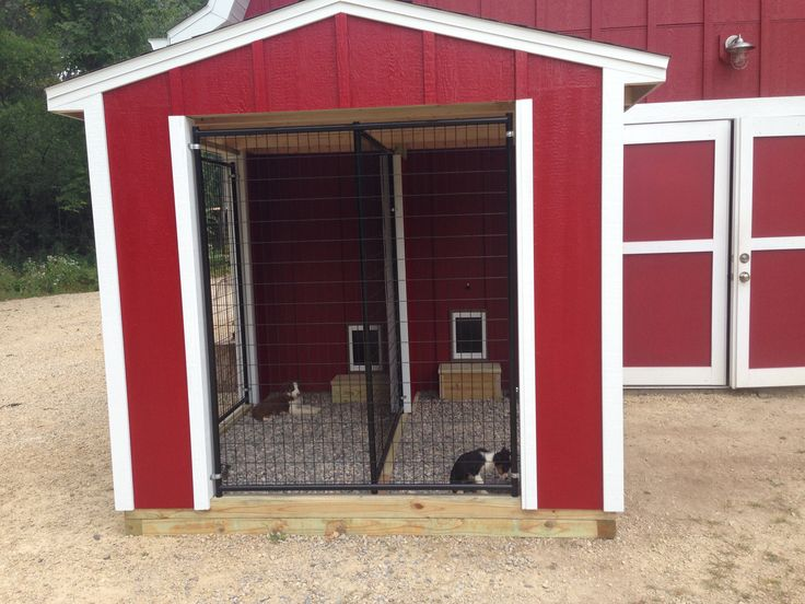 indoor outdoor dog kennel the red farm pinterest. Black Bedroom Furniture Sets. Home Design Ideas