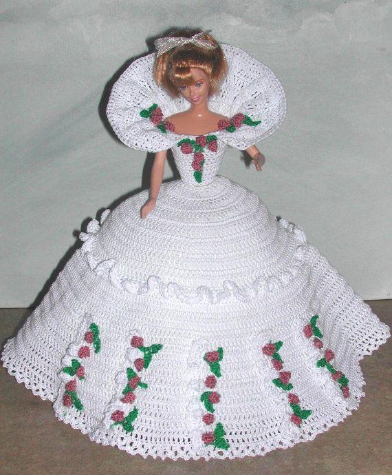 1039 best vestidos a crochet muñecas images on Pinterest | Crochet ...