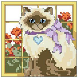 Free Cross Stitch Patterns by AlitaDesigns: Viola Flower Cross