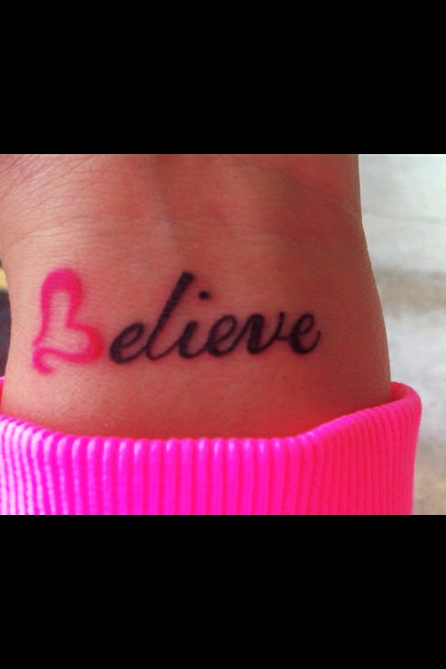 Small Tattoo Words: Small Word Tattoo