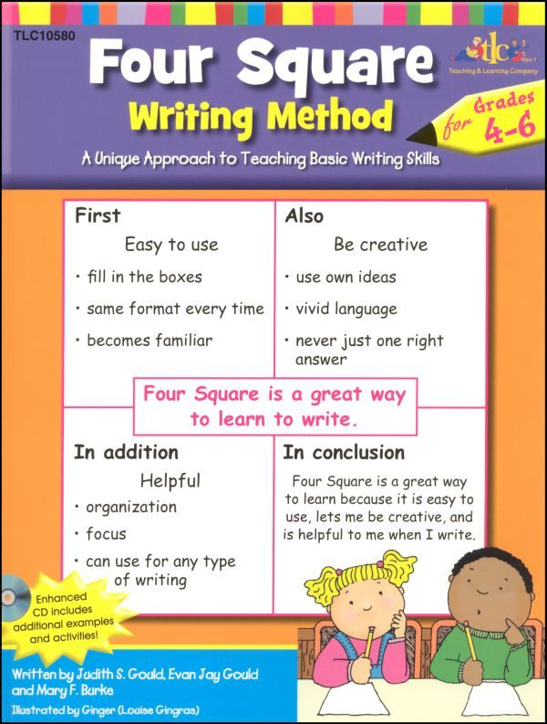 Four square writing | Four Square Writing Method for Gr. 4-6 w/ CD Item #: 048046