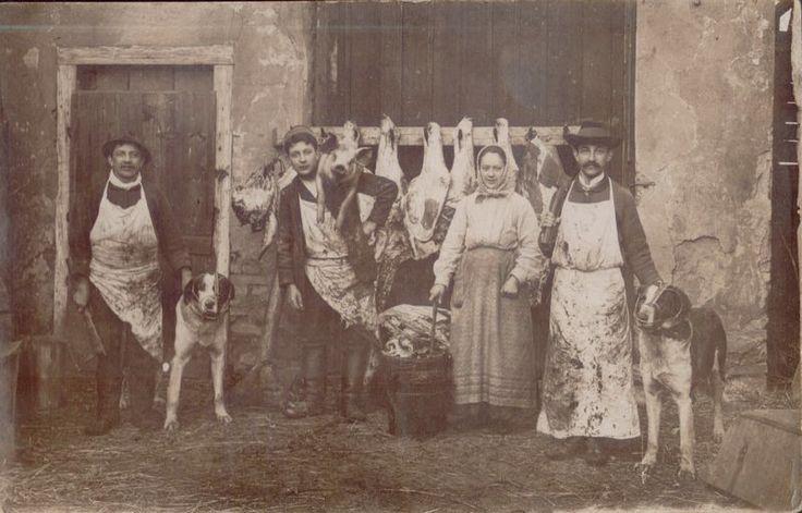 1907 Nýřany, řezník Levý. Zdroj: nyrany.cz