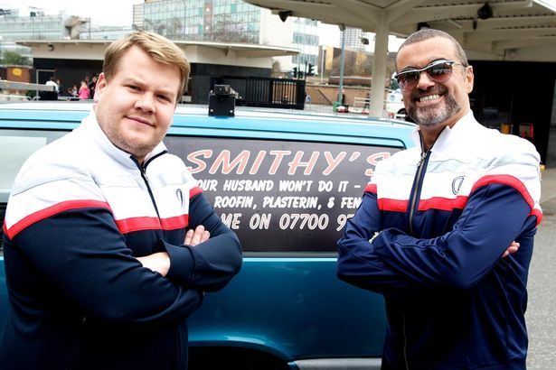 James Corden as Smithy and George Michael