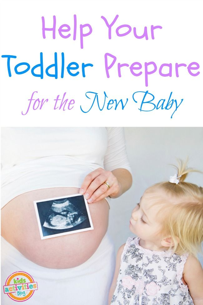 Ideas to help your toddler prepare for a new baby. Great parenting advice here! May or may not need it!