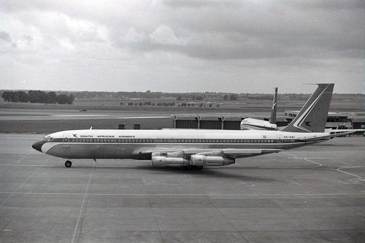 SAA Boeing 707 ZS-SAI South African Air Johannesburg 1972