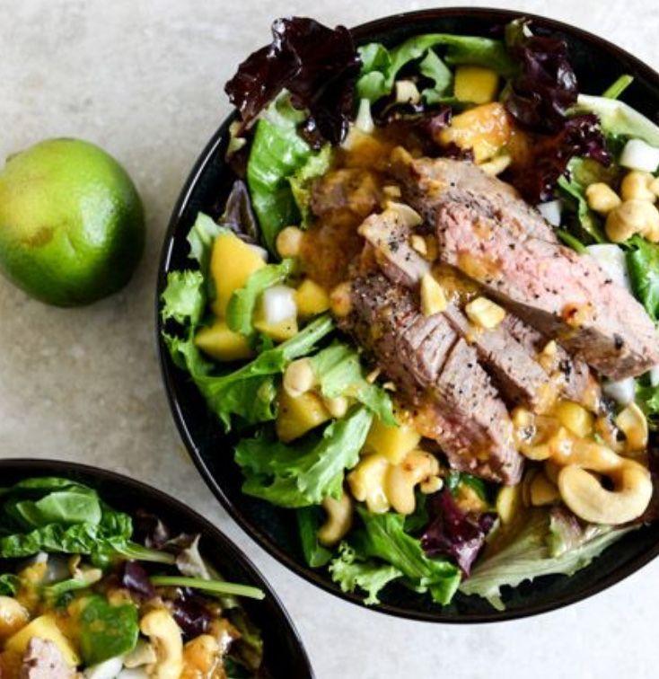 Tai Steak and roasted mango salad~