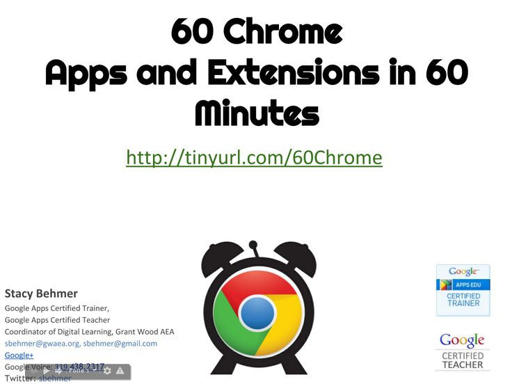 60 Chrome Apps and Extensions for Google Chrome browser