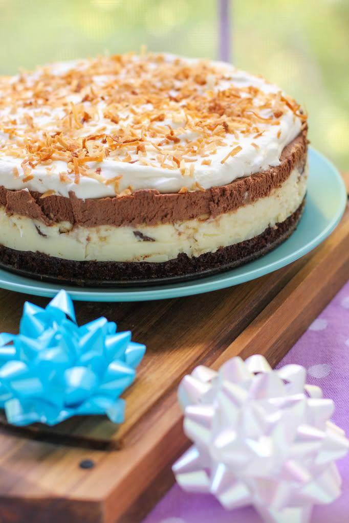 Brownie-Bottom Coconut Chocolate Cream Cake - Willow Bird Baking